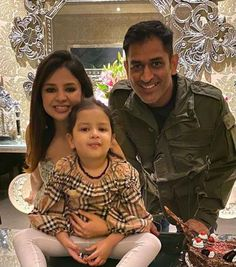 Unseen Family Images of Indian Famous Celebrities. Ms Dhoni Wife, Ziva Dhoni, Famous Celebrities, Celebs, Ms Dhoni Wallpapers, Ms Dhoni Photos, Brylcreem, India Win, Cute Family