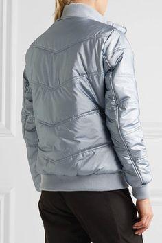 Topshop Sno - Queen B Faux Fur-trimmed Quilted Ski Jacket - Sky blue - UK