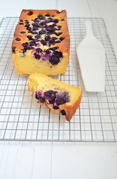 Ricotta cake met blauwe bessen