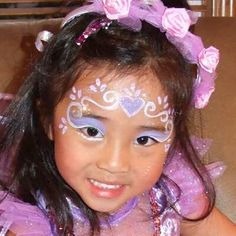 Facepainting- wonder if I could master this to do Mac's makeup for Disney Day rather than going to Bippity Boppity Boo