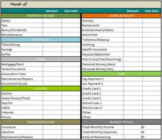 This weekly budget spreadsheet, will help to keep track of your ...