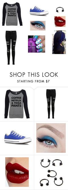 """""""Jules day 2"""" by zeta362 ❤ liked on Polyvore featuring Miss Selfridge, Converse, Holy Ghost and Charlotte Tilbury"""