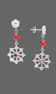 Earrings with Cubic Zirconia and Swarovski® Crystal Beads - Fire Mountain Gems and Beads