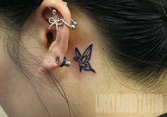 LUCKY ROUND TATTOO, Osaka Japan / Cute Little Butterfly Tattoo #tattoo #butterfly #girls #cute