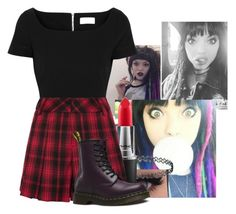 """Rena Lovelis Inspired"" by drewbiersack ❤ liked on Polyvore featuring Preen, MAC Cosmetics, Alice + Olivia, Dr. Martens, Inspired, RenaLovelis and heyviolet"