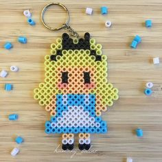 Alice hama beads by hamany_online                                                                                                                                                                                 Más