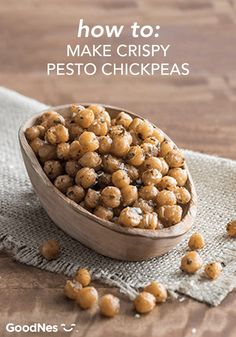 Headed to a party and need a yummy appetizer to share? These Crispy Pesto Chickpeas are packed with bold flavor and couldn't be more simple to prepare. See how to make this quick and easy appetizer with this three-ingredient recipe that can be ready in just 30 minutes or less!