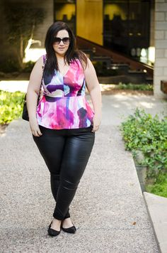 plus size leather jeans crystal coons city chic fall 2015  Check out our amazing collection of plus size leggings at http://wholesaleplussize.clothing/