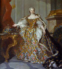 Louis Tocqué – Marie Leczinska en grand habit à la française ...
