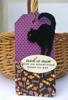 Gingham Girl- How about a scaredy cat covered in black flock?  :)