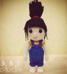Despicable Me Agnes Amigurumi Crochet Pattern (Free)  #crochet #amigurumi  www.ArtstoCrafts.com