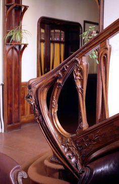 Villa Majorelle (Jika) - Nancy - 1901/1902 - La 1ère Maison entièrement de Style Art Nouveau autant ses extérieurs que l'aménagement intérieur - Rampe d'escalier