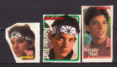 KARATE KID FILM CINEMA USA 3 RARE BRAVO SMALL VINTAGE OLD STICKERS R16872