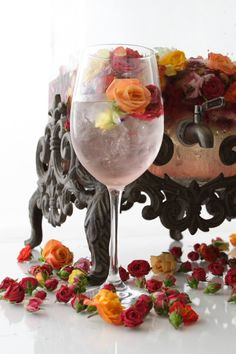 rose water with dessert