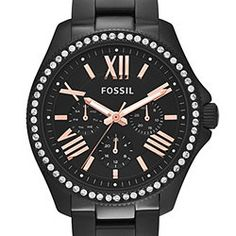 Cecile Multifunction Black Stainless Steel Watch