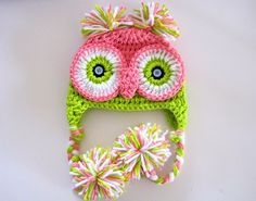 Owl Hat - How cute is that? :)