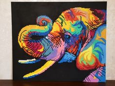Éléphant réalisé en perle Hama 🙂 Chef D Oeuvre, Les Oeuvres, Moose Art, Photo And Video, Diy, Painting, Instagram, Hama Beads, Artist
