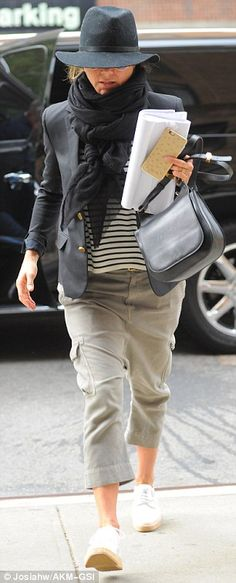 Smart thinking! The actress' jacket surely came in handy, as she was seen wearing it while arriving at her hotel later