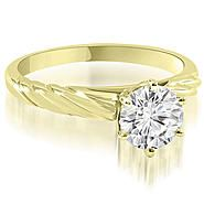 AMCOR 18K Yellow Gold 0.35 cttw  Twist Style 6-Prong Solitaire Diamond Engagement Ring (I1, H-I) at Sears.com  1300