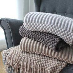 Nordic Knitted Blanket Travel Blanket Grey Khaki Sofa Throw   Etsy Chunky Knit Throw Blanket, Wool Blanket, Heavy Blanket, Bedroom Drapes, White Bedroom, Boho Home, Cotton Blankets, Throw Blankets, Living Room