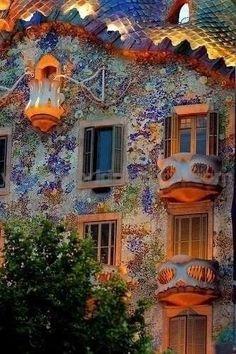 Творения архитектора Гауди Барселона.