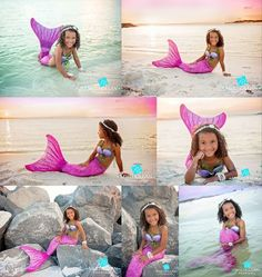 Mermaid portraits photos ideas from one of our Fin Fans in Waverlee's Malibu pink.