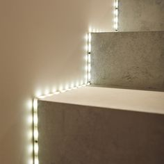 LED ribbon that offers a white and dynamic mood light for the soul. Led Profil, Bar, Led Stripes, Stair Lighting, Tumblr Rooms, Lumiere Led, Mood Light, Inside Design, Relax
