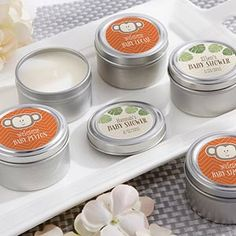 Personalized Travel Candle Born To Be Wild Baby Shower Collection Candle Tins Gender Reveal Boy Safari Monkey Wildlife First Birthday Favors Baby Shower Candle Favors, Personalized Baby Shower Favors, Baby Favors, Personalized Candles, Birthday Favors, Shower Centerpieces, Round Candles, Tin Candles, Candle Set