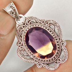 Now grab this elegant designer silver pendant with charming ametrine gemstone at our eBay store..!!  #jewelexi  #pendant  #ametrine  #silverjewelry  #jewelry  #silverpendant  #grabit  #stunning  #elegant  #online  #store
