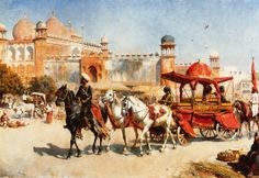 "Edwin Lord Weeks (American, 1849 – 1903) ""Royal Procession Before the Jumna Masjid"""