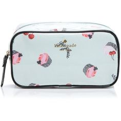 kate spade new york Magnolia Bakery Ezra Cosmetic Case ($60) ❤ liked on Polyvore featuring beauty products, beauty accessories, bags & cases, magnolia green, travel kit, make up bag, kate spade, cosmetic bags & cases and travel dopp kit
