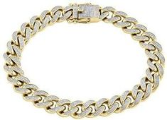 The bracelet is sculpted out of precious 10K yellow gold in the Miami Cuban style.