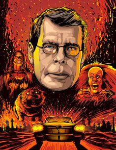 Stephen King by Cristiano Siqueira via http://www.crisvector.com