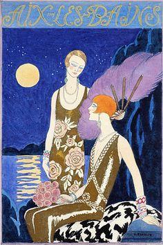 Aix Les Bains, France by Barbier. 1925  http://www.vintagevenus.com.au/vintage/reprints/info/TV614.htm