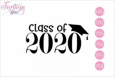 Class of svg cutting files, grad cut file, student hat cap, graduation graduate, college high High School Graduation, Graduation Cards, Graduation Announcements, Graduation Ideas, Class Of 2020, High Class, School Signs, Last Day Of School, Svg Files For Cricut