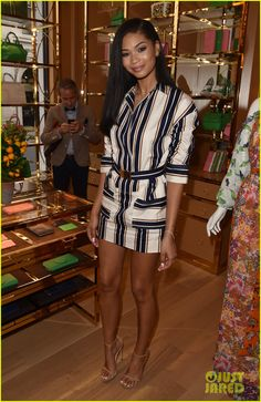 Elizabeth Olsen, Diane Kruger, & Chanel Iman Show Off Their Styles at New Tory Burch Boutique