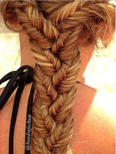 Plaits fishtail braid