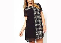 Chic plus size dress (asos.com). Love the look.