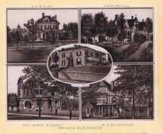 """""""Private residences"""" from A Souvenir of Burlington, Iowa, 1891.  Published by E. C. Gnahn"""