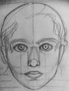 """Untitled self-portrait sketch, 2013"" by Vishwani Chauhan, pencil on paper."