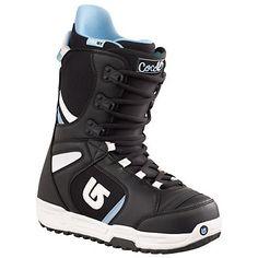 Burton Coco Womens Snowboard Boots, White-Silver