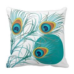 PixDezines psychedelic peacock/diy background Pillows