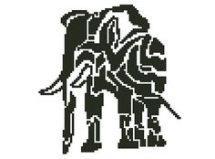 Elephant  crossstitch design by TiSOJ on Etsy