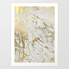 Buy Gold marble Art Print by Marta Olga Klara. Worldwide shipping available at Society6.com. Just one of millions of high quality products available.