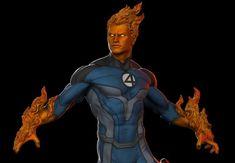ArtStation - Human Torch FA, Earl Vincent Kasilag Human Torch, Fantastic Four, Wolverine, Batman, Marvel, Cosplay, Fan Art, Comics, Artwork
