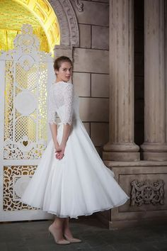 View the latest wedding dress collections from White Rose as well as UK Stockist information Tea Length Wedding Dress, Tea Length Dresses, Modest Wedding Dresses, Wedding Bridesmaid Dresses, Wedding Attire, Wedding Gowns, Tea Dresses, Evening Dresses, White Roses Wedding