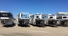 A few of the many 4-Star's to choose from in our outside booth at the 2016 All American Quarter Horse Congress October 6-30, 2016 with Altmeyer's Trailer Sales (800) 352-1565