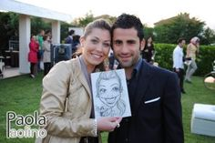 Una simpatica coppia di futuri sposi, con la caricatura in mostra di lei!     Scopri di più su: http://www.paolapaolino.it/caricaturista-per-matrimoni-ed-eventi/ #caricature #caricatura #caricaturista #ritrattista #illustrazione #arte