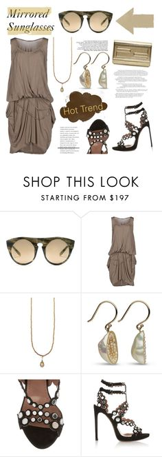 """Hot Trend: Mirrored Sunglasses"" by littlehjewelry ❤ liked on Polyvore featuring Alexander Wang, Lafty Lie, Alaïa, Fendi, sunnies, contestentry, mirrormirror, pearljewelry and littlehjewelry"