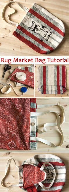 Sewing Tutorials Free Rug Market Bag Sew Free Tutorial ~ Sewing projects for beginners. Step by step sew tutorial. How to sew illustration. Bag Sewing, Love Sewing, Sewing Hacks, Sewing Tutorials, Sewing Tips, Tutorial Sewing, Bag Tutorials, Quilting Tutorials, Leftover Fabric